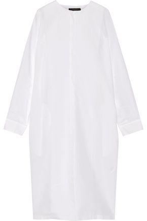 THE ROW Batcan cotton and linen-blend shirt dress
