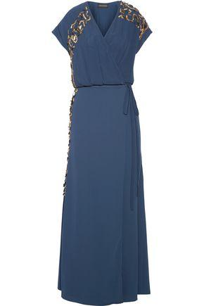 BY MALENE BIRGER Wynona embellished crepe wrap maxi dress