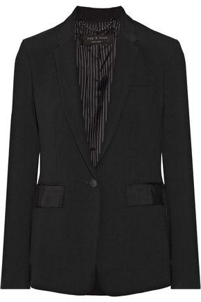 RAG & BONE Windsor grosgrain-trimmed crepe blazer