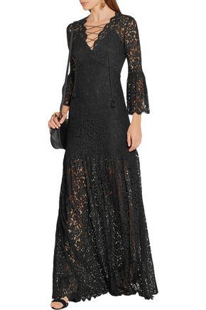 RACHEL ZOE Andoni corded lace maxi dress