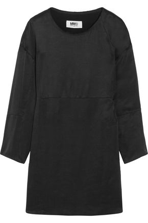 MM6 MAISON MARGIELA Frayed washed-satin dress