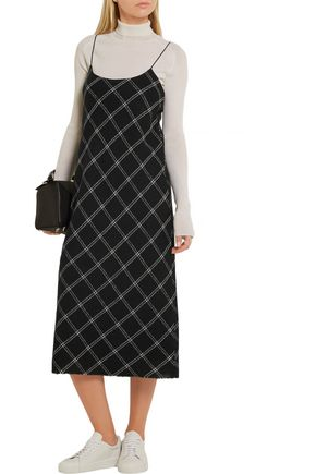 TIBI Printed wool-blend midi dress