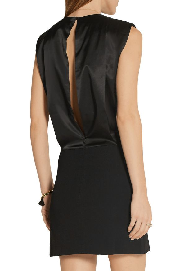 Érpanay satin and crepe mini dress | TOTÊME | Sale up to 70% off | THE  OUTNET