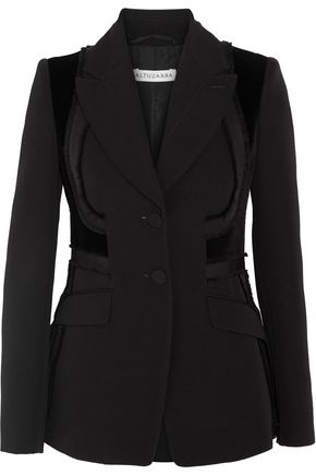 ALTUZARRA Rome velvet-paneled embroidered wool blazer