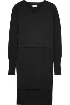 DKNY PURE Layered cotton-blend tunic