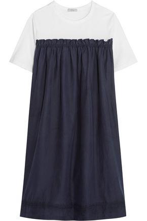 CLU Silk-blend and cotton-jersey mini dress