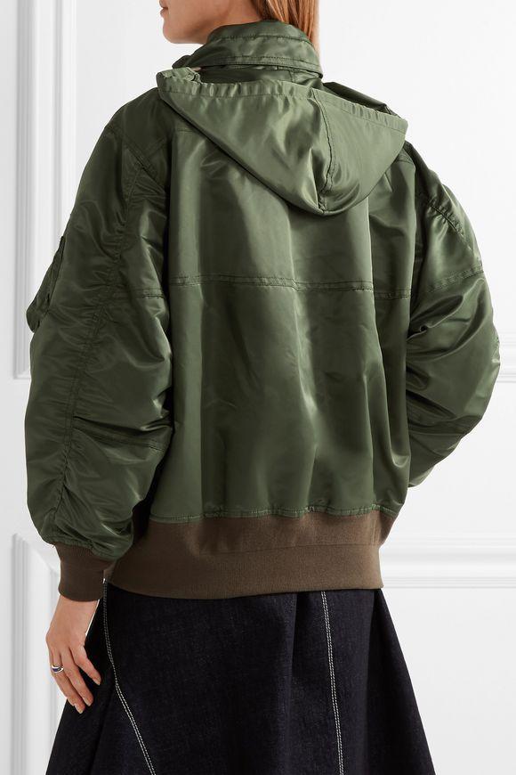 MA-1 satin hooded bomber jacket | SACAI | Sale up to 70% off | THE OUTNET