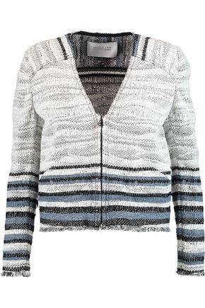 10 CROSBY DEREK LAM Cropped fringe-trimmed bouclé jacket