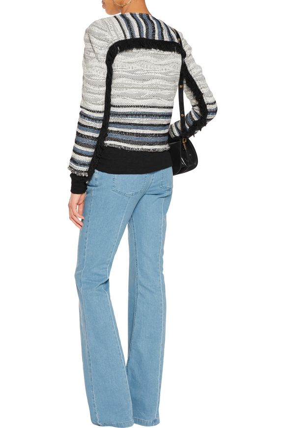 Cropped fringe-trimmed bouclé jacket | DEREK LAM 10 CROSBY | Sale up to 70%  off | THE OUTNET