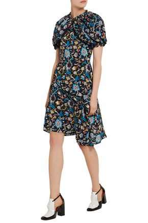 J.W.ANDERSON Printed silk crepe de chine mini dress