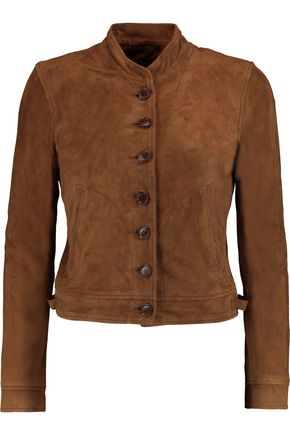 J BRAND Marquita cropped suede jacket