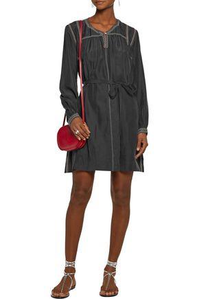 ISABEL MARANT Lindley belted embellished silk mini dress