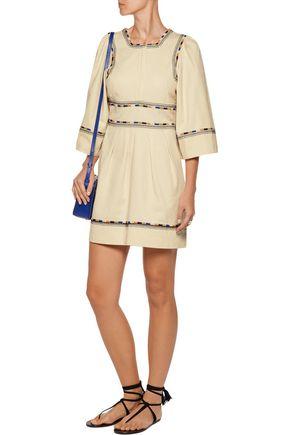 ISABEL MARANT Shayne embroidered cotton-twill mini dress