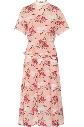 MOTHER OF PEARL Twilla printed silk-georgette midi dress
