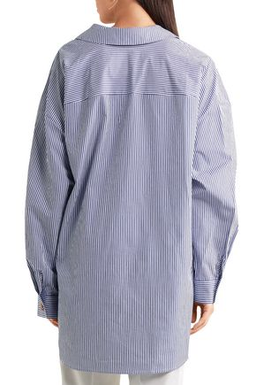 A.W.A.K.E. Striped cotton-poplin shirt
