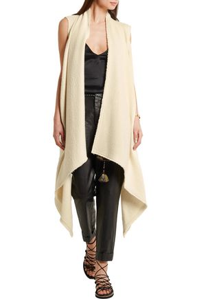 ISABEL MARANT Felicia draped alpaca vest