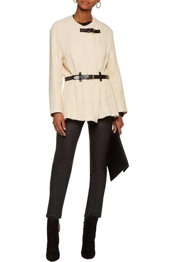 Glasco belted leather-trimmed quilted cotton jacket   ISABEL MARANT   Sale  up to 70% off   THE OUTNET
