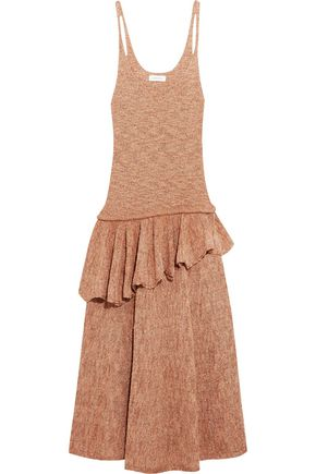 LEMAIRE Ruffled knitted midi dress