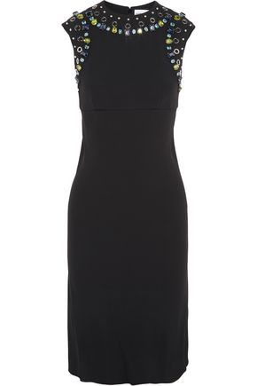 SONIA RYKIEL Embellished crepe dress