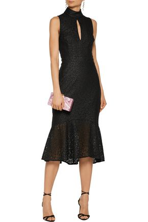 REBECCA VALLANCE Sistine cutout lace midi dress