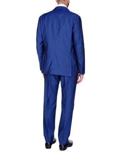 Фото 2 - Мужской костюм  синего цвета