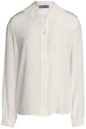 VANESSA SEWARD Pleated silk crepe de chine shirt