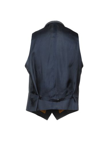 Фото 2 - Мужской жилет  темно-синего цвета