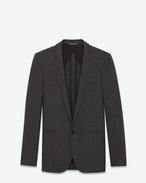 SAINT LAURENT Blazer Jacket U Long jacket in anthracite wool f