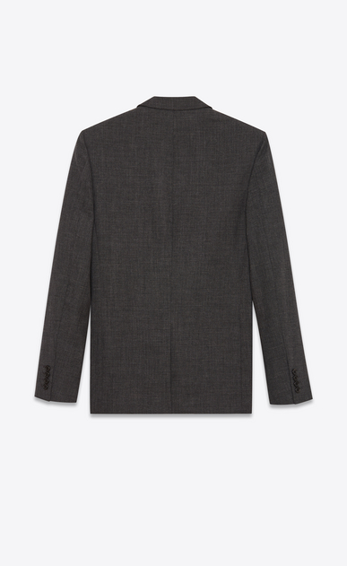 SAINT LAURENT Blazer Jacket Man Long jacket in anthracite wool b_V4