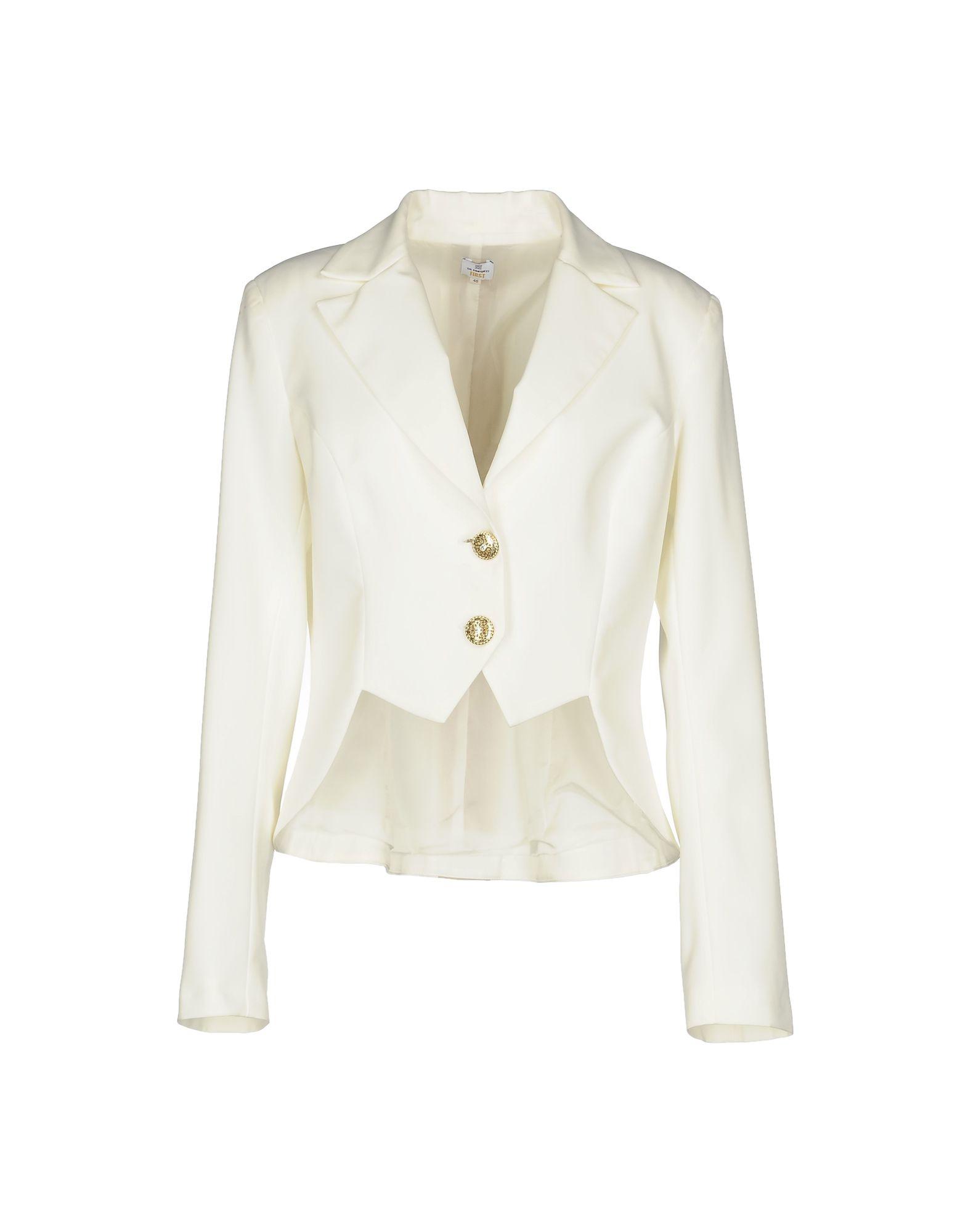 《送料無料》GIL SANTUCCI レディース テーラードジャケット ホワイト 46 ポリエステル 89% / ポリウレタン 11%
