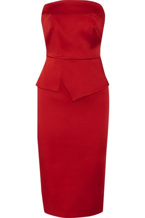 ROLAND MOURET Cozen strapless stretch-satin dress