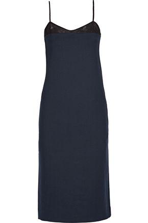 NINA RICCI Milano mesh-trimmed stretch-wool dress