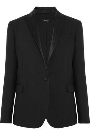 JOSEPH Savoy satin-trimmed twill blazer
