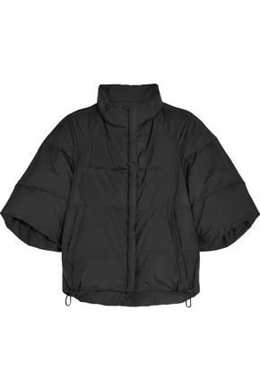 JIL SANDER Cropped shell down jacket