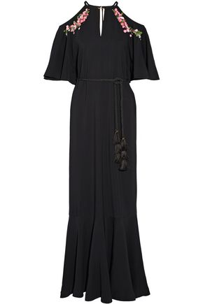 RACHEL ZOE Lyon embellished stretch-crepe gown