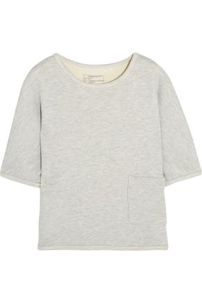 CURRENT/ELLIOTT The Painter cotton-blend terry top