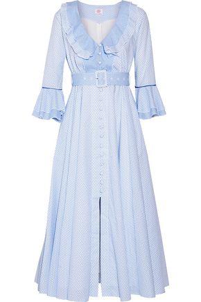 GÜL HÜRGEL Ruffle-trimmed printed cotton midi dress