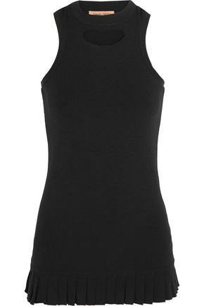 MAGGIE MARILYN The Loyal Friend pleated cutout organic cotton-jersey tank