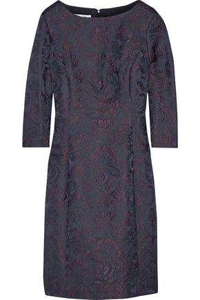 OSCAR DE LA RENTA Wool-blend jacquard dress