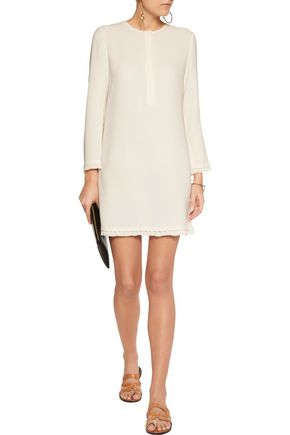 THEORY Joliene ruffle-trimmed crepe mini dress