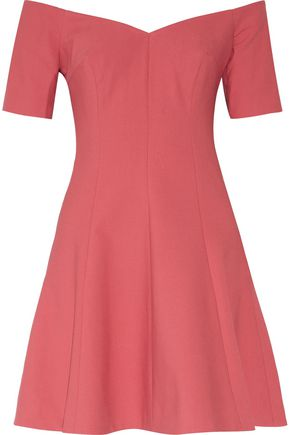 CINQ À SEPT Kenna off-the-shoulder stretch-cady mini dress