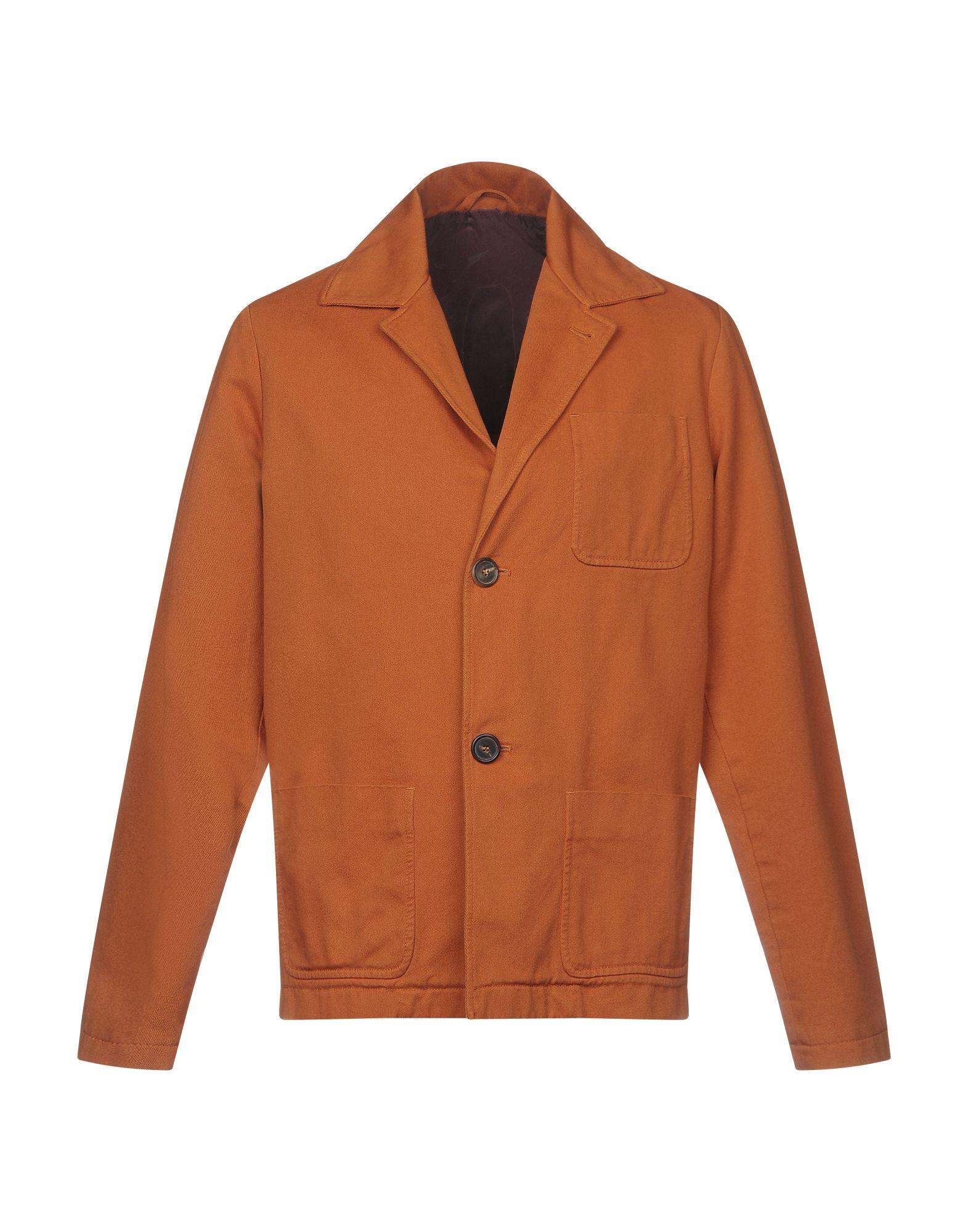 《送料無料》DOPPIAA メンズ テーラードジャケット 赤茶色 50 コットン 100%