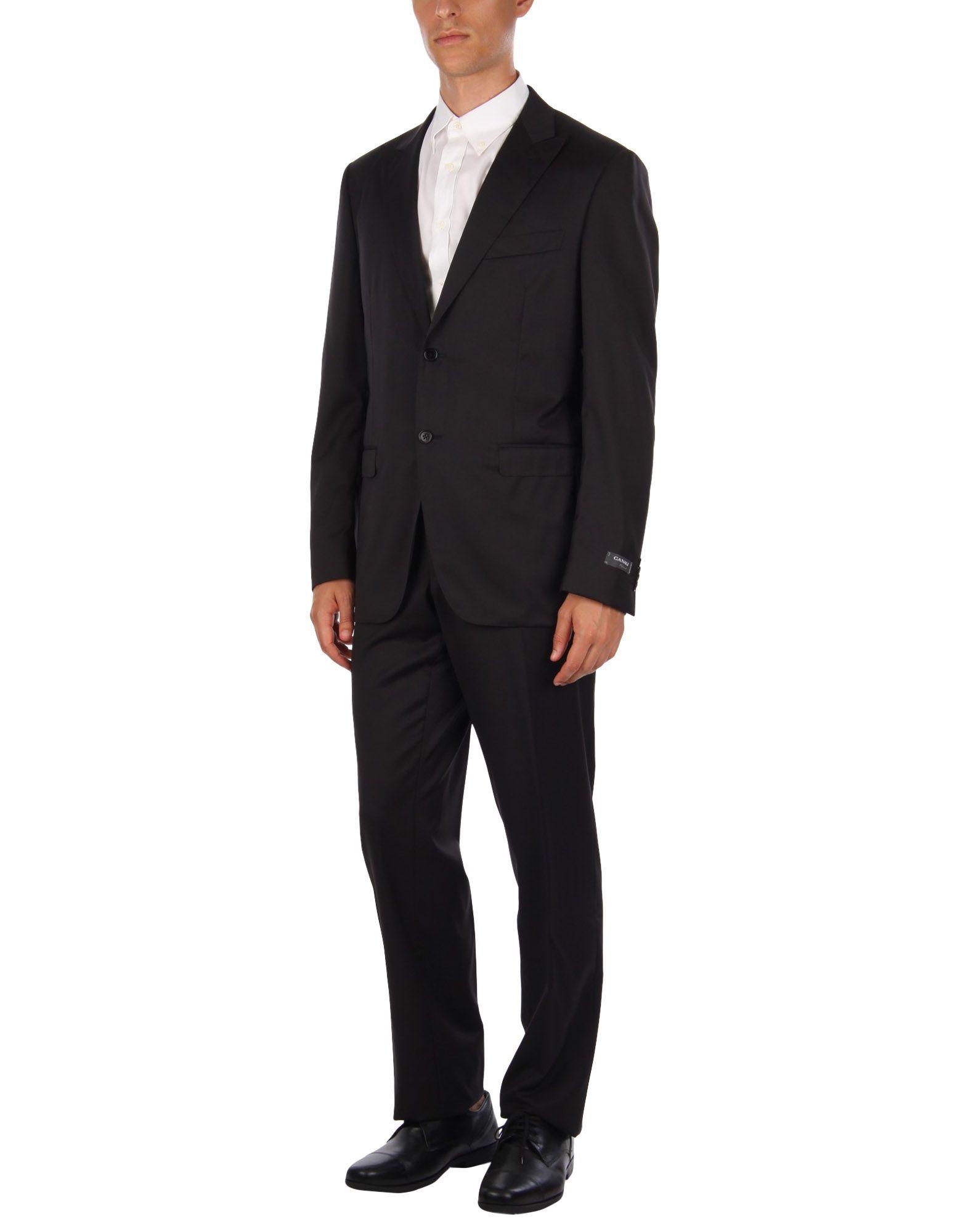 《セール開催中》CANALI メンズ スーツ ブラック 52 キュプラ