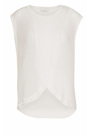 IRO Layered jersey top
