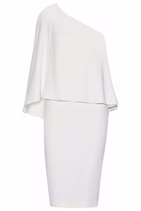 ROLAND MOURET One-shoulder layered cady dress