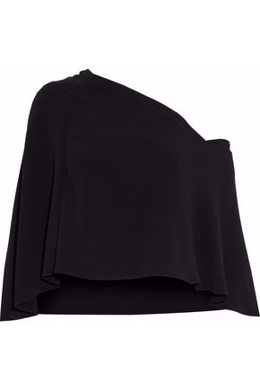 ROLAND MOURET Draped off-the-shoulder cady top