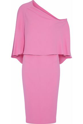 ROLAND MOURET One-shoulder draped crepe dress