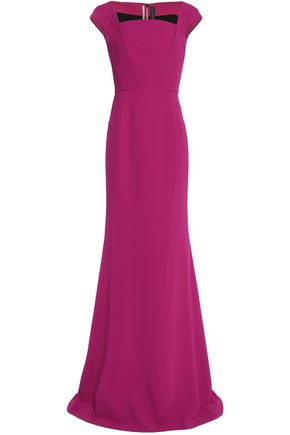 ROLAND MOURET Flared pleated gown