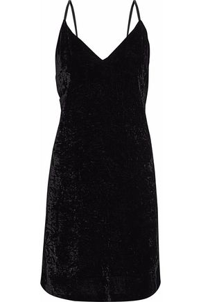 ALICE + OLIVIA Crushed-velvet mini dress