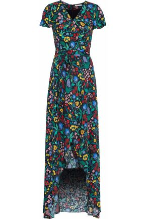 ALICE + OLIVIA Floral-print cady maxi dress